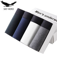 Gender: Men Briefs & Boxers: Boxer Shorts Pattern Type: Solid Brand Name: SKY HERO Material: Cotton Model Number: SKYHERO0808