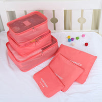 6pcs Nylon Packing Waterproof Luggage