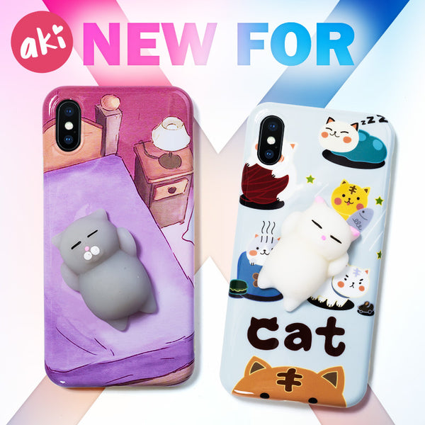 3D Cat Squishy iPhone 8 Cover