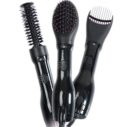Item Type: Comb Size: 29.3*26*8.8CM Model Number: OS-KW-NEW-A002 Material: Plastic Brand Name: NASV Product name : 3 in 1 Hair Dryer And Styler and straightener Color: Black Certification: CE Voltage: 110v/240v Power : 1000W Plate: Silica gel Frequency: 50HZ/60HZ Heating element: PTC Plug: EU/UK/US/AU