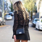 Open Shoulder Lace Blouse