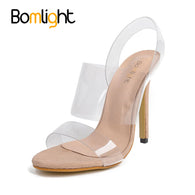Department Name: Adult Item Type: Sandals Sandal Type: Jelly Shoes Back Counter Type: Back Strap Lining Material: PU Style: Fashion Fashion Element: Rome Upper Material: PVC Fit: Fits true to size, take your normal size Heel Type: Thin Heels Side Vamp Type: Open Closure Type: Slip-On