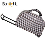 "Item Type: Luggage Item Width: 2CM Item Weight: 1.1KG Gender: Unisex With Lock: No Caster: Fixed Casters Luggage Type: Rolling Luggage Luggage Size: 22"" Item Length: 52CM Have Drawbars: Yes Model Number: LGTB Main Material: Oxford Item Height: 32CM Brand Name: Bomlight Style: Travel Luggage Feature: Portable Size: Length 52cm*Thickness23cm*Height32cm Material: Canvas+ABS+PC Suitable scene: Travel Type 01: Suitcase/Travel Luggage/Handbag/Truck Type 02: Suitcases on Wheels Type 03: Traveling Bags with Wheels"