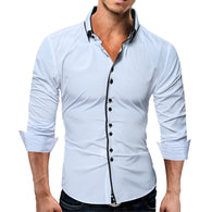 Item Type: Shirts Gender: Men Pattern Type: Solid Model Number: men shirt Sleeve Length(cm): Full Shirts Type: Casual Shirts Brand Name: QINGYU Collar: Square Collar Fabric Type: Broadcloth Material: Cotton,Polyester Fiber,Polyester Closure Type: Single Breasted Style: Casual Sleeve Style: Regular