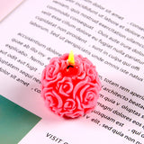 CHUANGGE Handmade Candles DIY Silicone Mold 3D Rose Ball Aromatherapy Wax Gypsum Mould Form Candles Making Supplies