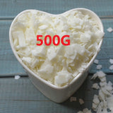 Candle Raw Materials 500g/bag High Quality 100% Pure Soy Wax Flakes Holiday Birthdays Parties Votive Bars Candle Making Supplies