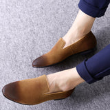 PADEGAO Classic Leisure Solid Slip On Shoes