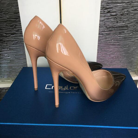 Craylorvans Leather Nude Pumps