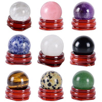 Crystal Ball Undrill 25 MM Natural Stone Egg Jade Mineral Quartz Obsidian Sphere Kegel Massage For Woman Tool Hand Massage