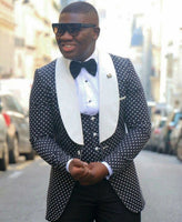 Custom Made Shawl White Lapel Tuxedos