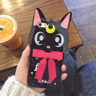 Black Cat Cartoon Phone Case For iPhone