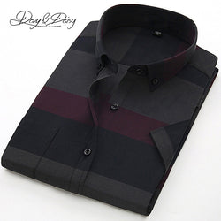 Item Type: Shirts Gender: Men Sleeve Length(cm): Short Shirts Type: Dress Shirts Model Number: DS118 Collar: Turn-down Collar Fabric Type: Broadcloth Material: Cotton,Polyester Style: Causal Closure Type: Single Breasted Brand Name: DAVYDAISY Sleeve Style: Regular Pattern Type: Plaid Shirt