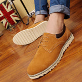 Men Oxford Faux Suede Shoes