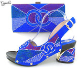 African Blue Rhinestone Pumps