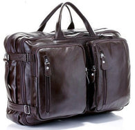 "Item Type: Travel Bags Brand Name: FANCODI Travel Bag: Travel Duffle Closure Type: Zipper Item Width: 7.1inch Have Drawbars: No Item Height: 13.8inch Gender: Men Pattern Type: Solid Hardness: Soft Style: ""European and American Style Main Material: Genuine Leather Occasion: Versatile Item Length: 18.9inch Item Weight: 1.9kg Material Composition: 100% Full Grain Genuine Bull Leather Genuine Leather Type: Cow Leather Model Number: M036 Size: Large"