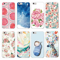 Floral Painting Soft Phone Case