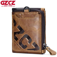 Item Type: Wallet Interior: Interior Compartment,Interior Key Chain Holder,Photo Holder,Zipper Poucht,Interior Zipper Pocket,Interior Slot Pocket,Coin Pocket,Note Compartment,Card Holder Genuine Leather Type: Cow Leather Wallet Length: Short Brand Name: GZCZ Pattern Type: Letter Item Length: 12cm Style: Casual Lining Material: Polyester Item Height: 10cm Gender: Men