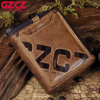 GZCZ Genuine Leather Men Wallet