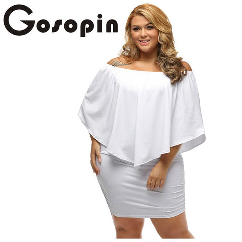 Gosopin Off Shoulder Layered Sexy Dress