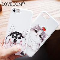 "Retail Package: Yes Compatible iPhone Model: iPhone 6 Plus,iPhone 7 Plus,iPhone 6s,iPhone 6s plus,iPhone 6,iPhone 7 Brand Name: LOVECOM Function: Dirt-resistant Type: Fitted Case Design: Animal,Cute Features: Fashion Cute Cat Dog Phone Case Compatible Brand: Apple iPhones Size: 4.7"" 5.5"" Material: Soft TPU Feature: Fashion Cute Cat Dog Type: Case"