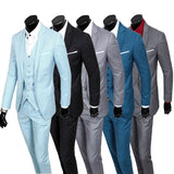 Gender: Men Item Type: Suits Fit Type: Skinny Clothing Length: Regular Front Style: Flat Closure Type: Single Breasted Material: Cotton,Polyester Pant Closure Type: Zipper Fly Model Number: Asian size S-3XL