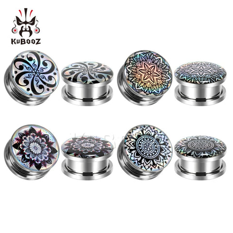 KUBOOZ  Picture Logo Plugs Stainless Steel Stretcher