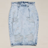 Kostlich- Back Split Sexy Jean Skirt