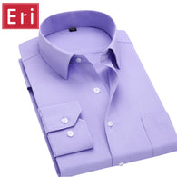 Style: casual shirts social Collar: Turn-down Collar Fabric Type: Broadcloth Brand Name: ERIDANUS Material: Cotton,Polyester Closure Type: Single Breasted Sleeve Style: Regular Color: White,Pink,Blue;Black;Purple;Green;Red; Size: Asian Size S,M,L,XL,XXL,XXXL,4XL Fit: Tailored Fabric Content: Cotton;Polyester Thickness: Thin Fastening: Button Through Collocation: Pants;Shorts;Suits;Jackets;Coats Season: Spring;Summer;Autumn;Winter Description: Wedding Shirts Brand