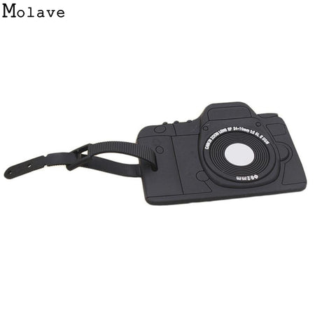 Camera Black Luggage tag