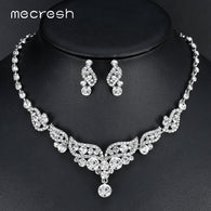 Brand Name: mecresh is_customized: Yes Main Stone: Crystal Material : Crystal,Rhinestone Shape: Angel Wings, leaves Shipping: Free shipping Gift for: Mom / Girlfriend / Wife / Daughter / Female friends / Yourself Occasions: Party / Prom / Anniversary/ Wedding Type: Wedding Jewelry Sets Color: Silver Package: Bubble envelope
