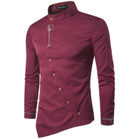 Item Type: Shirts Gender: Men Sleeve Length(cm): Full Shirts Type: Casual Shirts Collar: Square Collar Fabric Type: Broadcloth Material: Cotton Style: Fashion leisure Closure Type: Single Breasted Pattern Type: Print Model Number: Long sleeves Brand Name: ZYFG free
