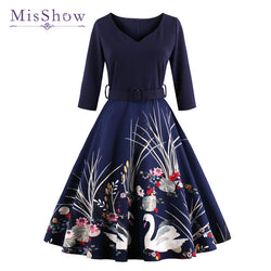 Silhouette: A-Line Style: Vintage Material: Polyester,Cotton Sleeve Style: Regular Brand Name: MisShow Sleeve Length(cm): Half Pattern Type: Print Model Number: FS1163 Waistline: Natural Decoration: Zippers Color: As picture Size: S M L XL 2XL 3XL 4XL Women dress: Vintage dress Casual dress: Printed dress plus size women clothing: 50s 60s style MOQ: 1 Piece