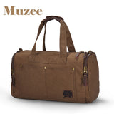 "Item Type: Travel Bags Item Height: 26cm Closure Type: Zipper Gender: Men Item Width: 15cm Pattern Type: Solid Hardness: Soft Main Material: Canvas Item Weight: 0.74kg Have Drawbars: No Item Length: 42cm Style: ""European and American Style Material Composition: Canvas Travel Bag: Travel Duffle Occasion: Versatile Brand Name: MUZEE Model Number: ME_9666"