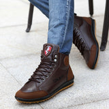 Men Leather Boots Fashion
