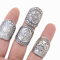 Surface Width: 2mm Shape\pattern: Geometric Style: Punk Item Type: Rings Fine or Fashion: Fashion Setting Type: None Rings Type: Cocktail Ring Model Number: 13514 Gender: Unisex Material: Acrylic Metals Type: Silver Plated Occasion: Anniversary