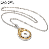 New Owl Snap Pendant Necklace 18mm Snap Button Jewelry Necklace With Chain Button Jewelry