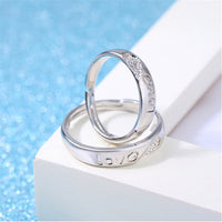 Silver Adjustable LOVE  Ring