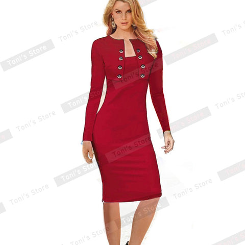 Women Vintage Pinup Business Dress