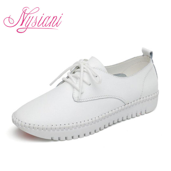 Brand Name: Nysiani Upper Material: Split Leather Flats Type: Loafers Occasion: Casual Pattern Type: Solid Closure Type: Lace-Up Toe Shape: Round Toe Outsole Material: Rubber Season: Spring/Autumn Insole Material: Latex Lining Material: PU Fit: Fits true to size, take your normal size Fashion Element: Cross-tied Model Number: NYA7103 Item Type: Flats Department Name: Adult Heels height: 2.6cm Platform: 2.2cm
