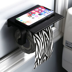 Black Aluminum Paper Towel Holder
