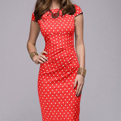 Elegant Polka Dot Print  Sundress