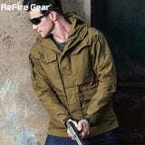 ReFire -Men Waterproof  Multi-Pockets Windbreaker Coat