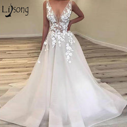 Sexy Floral Lace Wedding Dress