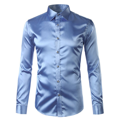 Men Silk/Satin Tuxedo Shirt