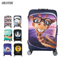 Item Type: Travel Accessories Pattern Type: Cartoon Brand Name: HKOTIIK Item Length: 42cm Main Material: Polyester Material Composition: Polyester Item Height: 65cm Item Weight: 0.4kg Travel Accessories: Luggage Cover Item Width: 26cm Model Number: A115