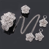 Item Type: Jewelry Sets Fine or Fashion: Fashion Shape\pattern: Plant Included Additional Item Description: 1 Necklace, 1 Pair Earrings, 1 Bracelet, 1 Ring Brand Name: U7 Jewelry Sets Type: Bridal Jewelry Sets Metals Type: Copper Alloy Occasion: Wedding Style: Vintage Gender: Women Material: Metal