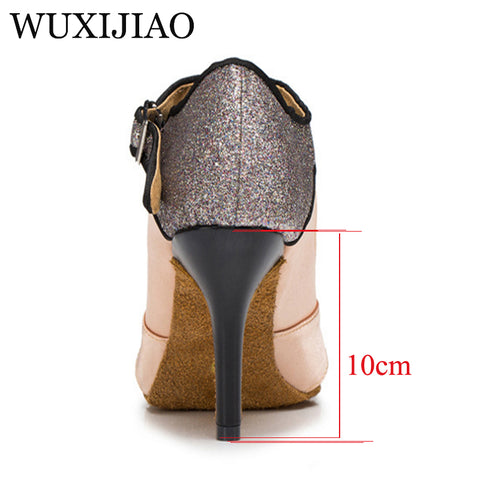 Office & School Supplies Sporting Wuxojiao Ladies Purple And Skin Satin Rhinestone Salsa Tango Ballroom Dance Shoes Latin Dance Shoes And Dance Sandals