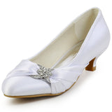 Bridal Low Heel Satin Pumps