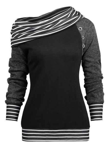 Gender: Women Item Type: Hoodies,Sweatshirts Type: Pullovers Model Number: Women Stripe Hoodies Sweatshirts Fabric Type: Knitted Sleeve Style: Regular Clothing Length: Regular Brand Name: GAMISS Sleeve Length(cm): Full Material: Polyester,Spandex Pattern Type: Striped Hooded: No Weight: 0.46KG Style: Casual Collar: Crew Neck