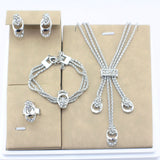 Item Type: Jewelry Sets Fine or Fashion: Fashion Model Number: 140 Included Additional Item Description: Necklace/Earrings/Bracelet/Ring Jewelry Sets Type: Bridal Jewelry Sets Material: Rhinestone Style: Trendy Occasion: Wedding Metals Type: Zinc Alloy Shape\pattern: Water Drop Brand Name: Jiayi Jiaduo